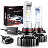 SEALIGHT 9005/HB3 LED Headlight Bulbs,12000LM High Beam/Fog Light LED Conversion Kit 6000K Xenon White Non-polarity, Pack of 2