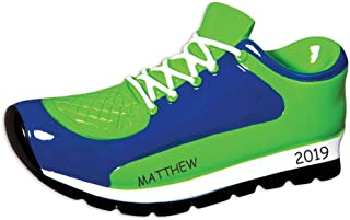 DIBSIES Personalization Station Personalized Running Shoe Sports Christmas Ornament (Blue)