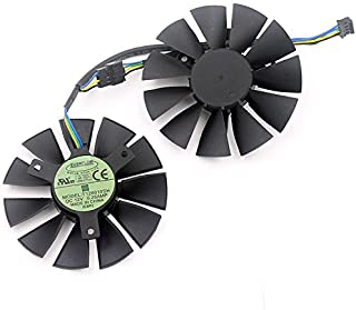 iHaospace 2 Pcs/Lot T128010SH Graphics Card Fan 0.25A 75mm 39 * 39 * 39mm 4Pin for ASUS Strix GTX 960 GTX750TI