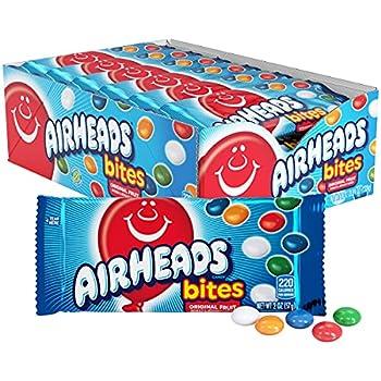 Airheads Bites Candy Movie Theater Bag Fruit Non Melting 2 oz  Bulk Pack of 18