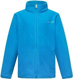 YINGJIELIDE Boy's Polar Fleece Jacket Kids Full-Zip Coat Soft Warm Outdoor Sweatshirt