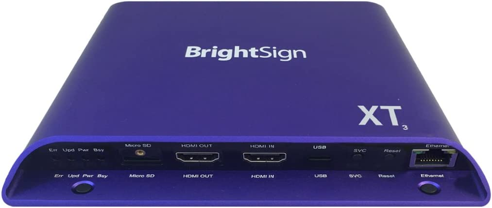 BrightSign XT1143   4K Dual Video Decode Expanded I/O Player