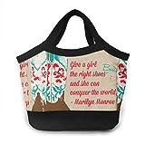 shenguang Fiambrera Western Cowgirl Shoes Art Bento Lunch Bag para hombres, mujeres, adultos, trabajo, escuela, picnic, playa, almuerzo, poliéster, bolso, reutilizable, bebidas