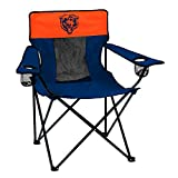 Logo Brands NFL Chicago Bears  Folding Elite Chair with Mesh Back and Carry Bag ,  Navy,  One Size