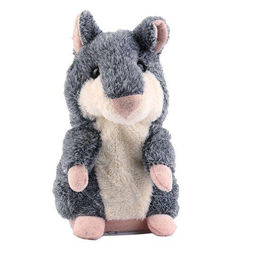 Talking Hamster Plüsch, iHee Heiße Sprechen Sprechende Aufzeichnung Nod Hamster Maus Plüsch Kinder Spielzeug Geschenk (Grau)