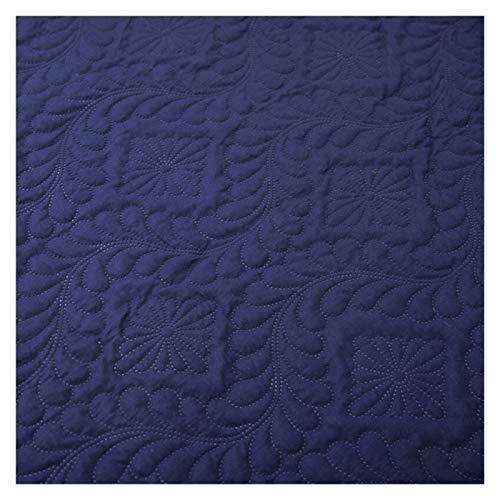 RHBLHQ Sábana Monocromo en Relieve Impermeable colchón Protector Estilo sábana Cubierta colchón colche Grueso Cama tapizada (Color : Navy Blue C, Size : 135X190X30cm)