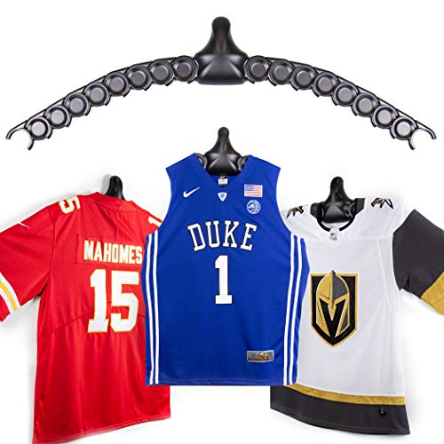 ChalkTalkSPORTS JerseyGenius | The Ultimate Display for All Jerseys | Shapes to Fit Any Sports Jersey (3-Pack) | Versatile Hanger and Wall Display