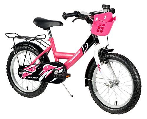HUDORA Kinder-Fahrrad, pink, Fahrrad für Mädchen, 16 Zoll, 10543