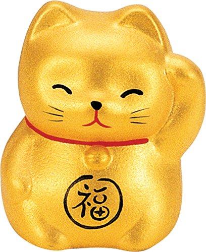 Maneki Neko–gato de la suerte–oro–la riqueza y la prosperidad–5,2cm