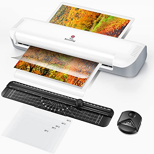 Nestling Laminator A3, Hot Laminator Machine with 10 Pouches, Paper Cutter and Corner Trimmer, Document Photos Save Forever