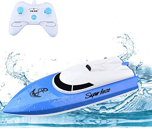 WomToy RC Boat, 2.4GHz High Speed Remote Control Boats for Lake/Pool/Pond, Electric RC Racing Boats for Adults & Kids