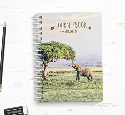 Reisetagebuch Südafrika zum selberschreiben/als Abschiedsgeschenk zum ausfüllen - DIN A5 mit interaktiven Aufgaben und Challenges und Reise-Zitaten