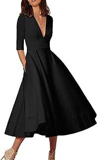 Suchergebnis Auf Amazon De Fur Schwarze Kleider Damen Midi
