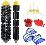 KTZAJO Kit de accesorios de repuesto para filtros de cepillo IRobot Roomba 527e 529 595 600 610 620 630 645 650 655 660 680 (color: paquete a)
