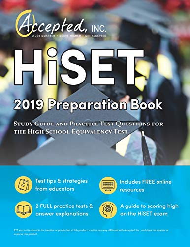 Price comparison product image HISET 2019 Preparation Book: Study Guide and Practice Test Questions for the High School Equivalency Test