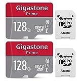 Gigastone Micro SD Card 128GB 2-Pack MicroSD HC U1 C10 with Mini Case