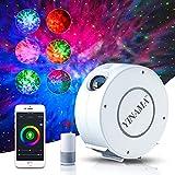 LED WIFI Lampada Proiettore Stelle, Alexa Proiettore Cielo Stellato con Luce Notturna Regolazione Smart RGB, 360° Rotazione Led Proiettore, Compleanno, Regalo, con Controllo Vocale/WiFi/Timer