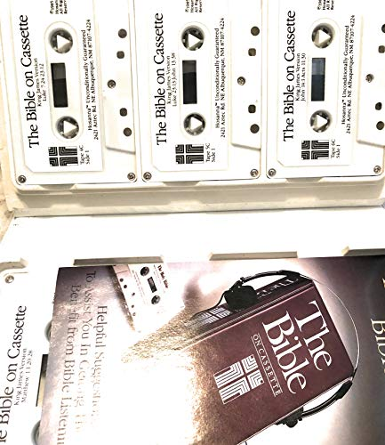The Bible on Cassette. New International Version. Old Testament & New Testament. 4-Volume Set. 48 Cassettes.