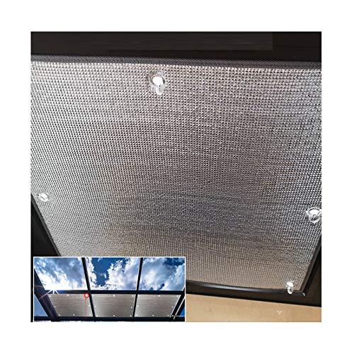 LJIANW Vela de Sombra Toldo Vela, Membrana De Papel De Aluminio, Ático Personalizable Tablero De Aislamiento Película De Protección Solar, Fácil De Instalar por Techo Casa De Cristal Balcón