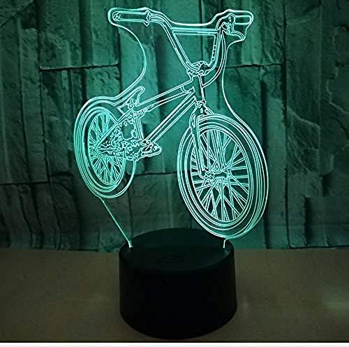 Night Light Mountain Bike 3D Three-Dimensional Desk Lamp Led Illusion Lamp Gift Table USB Optical Illusion Lamp 7 Colors Lamp