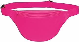 Fanny pack, BuyAgain Unisex 2 Zipper Quick Release Buckle Travel Sport Running Waist Fanny Pack - Neon Pink