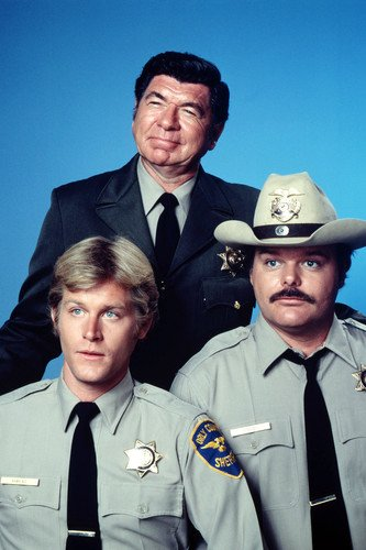 Claude Akins Brian Kerwin and Mills Watson in Misadventures of Sheriff Lobo 24x36 Poster