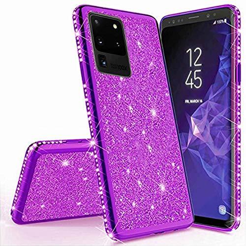 Preisvergleich Produktbild Miagon für Samsung Galaxy S20 Ultra Glitzer Hülle, Bling Überzug Glänzend Strass Diamant Weich TPU Silikon Handy Hülle Etui Tasche Schutzhülle Case Cover