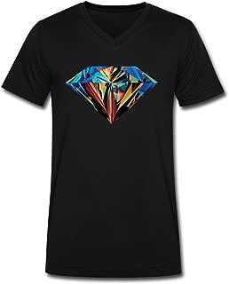 Bert Pandora Mens Colorful Diamond Space Galaxy V Neck Tshirts