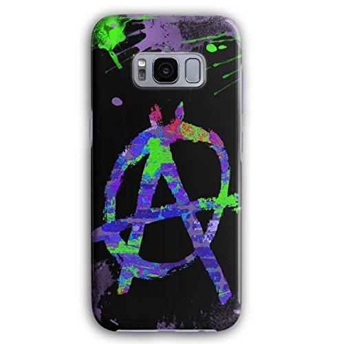 Wellcoda Anarchie Symbol FarbeHülle für Samsung Galaxy, S8 Graffiti rutschfeste Hülle - Slim Fit, Schutzhülle, bequemer Griff
