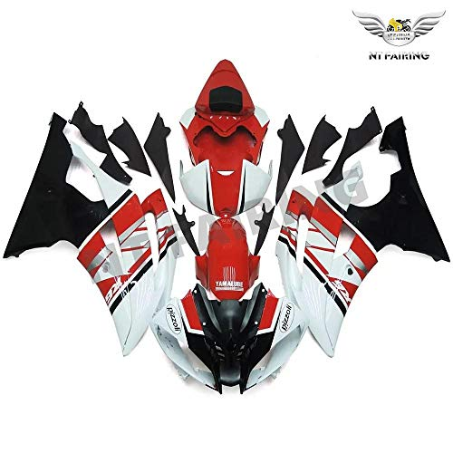 NT FAIRING Red Silver Fairing Fit for YAMAHA 2008-2016 YZF R6 Injection Mold ABS Plastics Bodywork Body Kit Bodyframe Body Work 2009 2010 2011 2012 2013 2014 2015 YZF-R6 a119