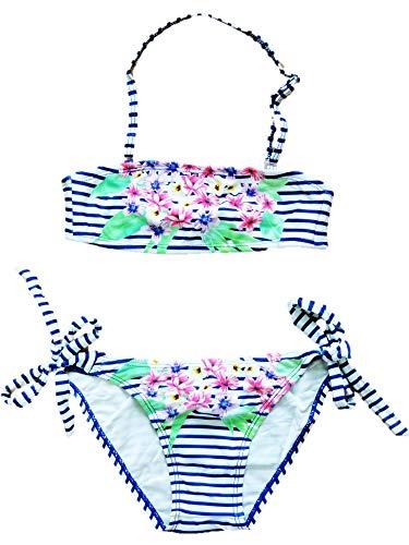 VanessaShop Mooie Meisjes Neckholder Bikini in leuke strepen-look in de maten 104-158
