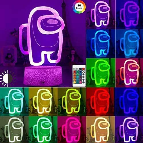3D Among Us Led Lava Table Decor Lamps Illusion Night Lights with 16 Color Changing Remote Touch product image