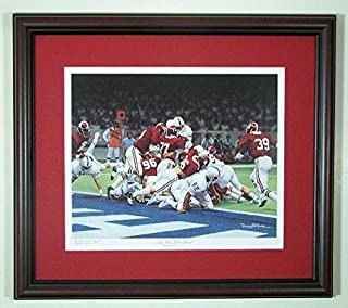 Alabama Football 1978 National Championship The Goal Line Stand by Daniel Moore Framed Print