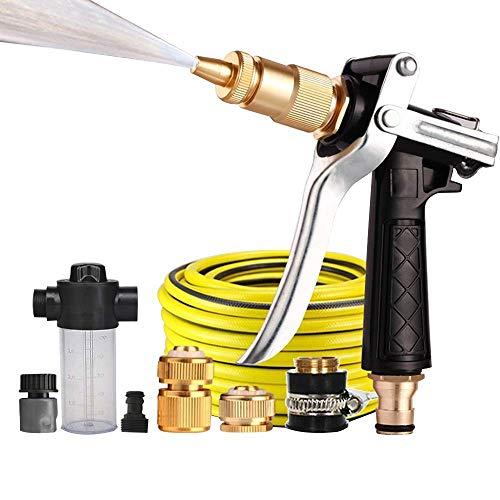 HENGHENG Espuma/Agua/conmutable Manguera de jardín de Agua, Resistentes al Desgaste de PVC/Jabón Dispensadores de pulverizador/a Prueba de Fugas de Metales/Agua de la Manguera con Pistola/Apto for