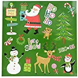 Christmas and Winter Themed Glitter Refrigerator Magnets 2017 (North Pole Crew)