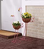 Sets of 2 Bird Planters Flamingos