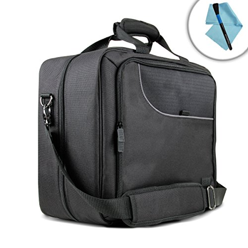 USA Gear Mobile Printer Case for Epson Workforce WF-100 and Accessories with Carrying Strap, Padded Scratch-Resistant Lining - Storage for Paper, Power Adapter, Ink Cartridges