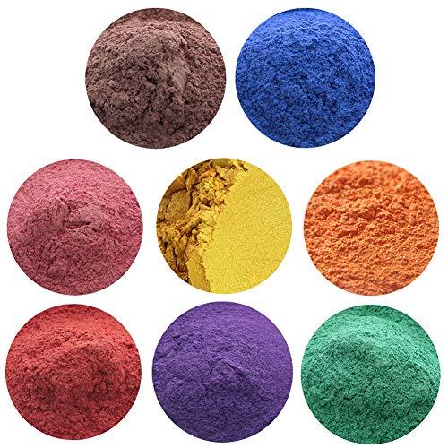 erhumama 8 couleurs 50 g de savon semi-naturel minéral mat poudre de mica ombre à paupières blush teinture DIY savon
