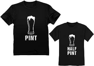 Pint & Half Pint Toddler & Men's T-Shirts Matching Set Funny