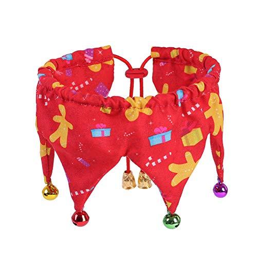 OUYAWEI Home Hond Kattenhals Decoratie met Klokken Kostuum Feestelijke Leuke Kleurrijke Clown Sjaal voor Huisdieren