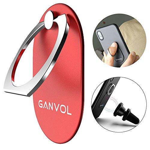 Ganvol Mobile Holder anello del telefono, Grande Grip anello SmartPhone Finger, funziona anche con magnetico montaggio per auto e come girevole da 360 gradi Kickstand / Desktop staffa