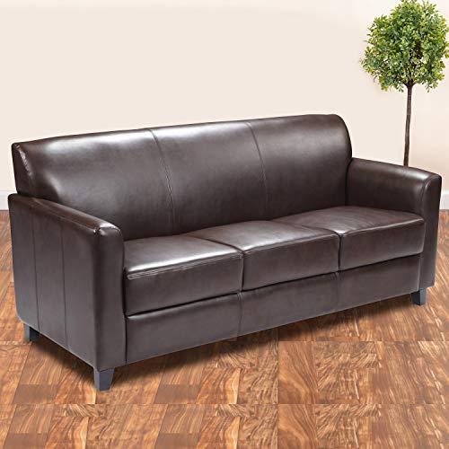 Hot Sale Flash Furniture Hercules Diplomat Series Brown Leather Sofa