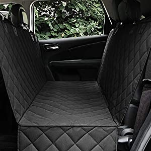 Honest Dog Car Seat Covers with Side Flap, Pet Backseat Cover for Cars, Trucks, and Suv's – Waterproof & Nonslip-Luxury(Quilted)
