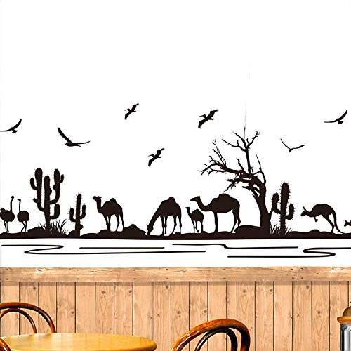 HJZS Adesivo da Parete 3D Adesivi murali autoadesivi verniciati battiscopa con Zoccolo di Cammello del Deserto Decorati corridoio Camera da Letto Soggiorno