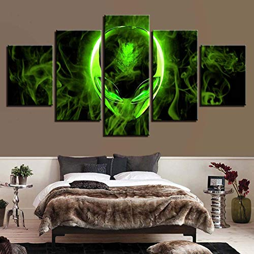 Chuixiaoxiao1 Modern Canvas Prints 5 Piece Wall Art Alien Avatar Home Decoration Painting Printed on Canvas for Bedroom Living Room Bathroom Office Home Decoration