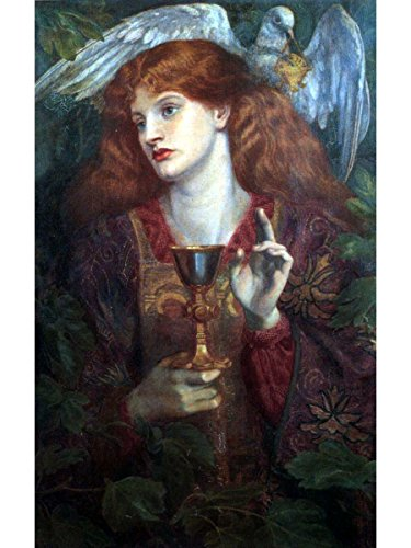 The Damsel of The Sanct Grael or Holy Grail by Dante Gabriel Rossetti