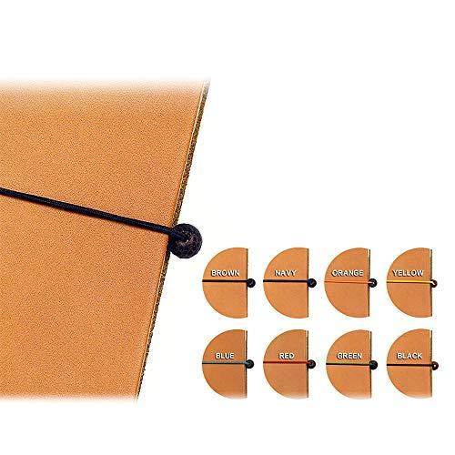 HIGHCAMP (ハイキャンプ) HIGHCAMPブランド専用 ゴム留め 手帳型スマホケース 替えゴム&ビーズ 2個セット イエロー