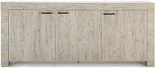 Dugar Home - Aparadores Modernos para Salón - Mueble Rectangular Michigan Roble Claro 3 Puertas (200x42x85)