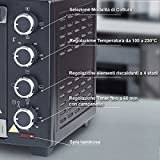Zoom IMG-2 bakaji forno fornetto elettrico ventilato