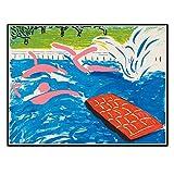 WTHKL Tarde de natación 1980 por David Hockney Pintura Decoración para el...